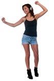 Bailarín de la música Foto de archivo libre de regalías