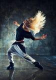 Bailarín de la mujer joven Fotografía de archivo