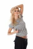 Bailarín de la mujer joven del retrato en estilo de la calle Fotos de archivo libres de regalías