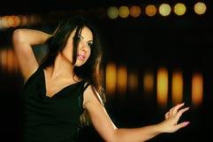 Bailarín de la noche fotos de archivo