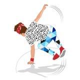 bailarín de la rotura de la calle del estilo 80s y 90s Imagen de archivo