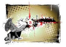 Bailarín de la rotura en la ciudad ilustración del vector