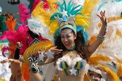 Bailarín de la samba Fotografía de archivo