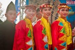 Bailarín de Lampung del metro. Imágenes de archivo libres de regalías