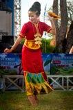 Bailarín de Lampung del metro. Imagen de archivo