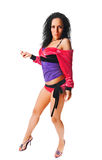 Bailarín de Ragga en blanco Imagen de archivo