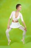 Bailarín de sexo femenino Imágenes de archivo libres de regalías