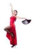 Bailarín de sexo femenino Fotografía de archivo libre de regalías