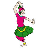 Bailarín de sexo femenino Fotos de archivo libres de regalías