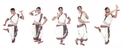 Bailarín de sexo femenino clásico indio imagenes de archivo