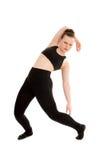 Bailarín de sexo femenino contemporáneo o moderno Mid Routine Fotos de archivo