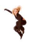 Bailarín de sexo femenino de salto Imágenes de archivo libres de regalías