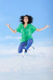 Bailarín de sexo femenino de salto Imagenes de archivo