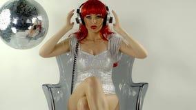 Bailarín de sexo femenino del disco de Beautfiul almacen de video