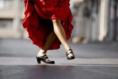 Bailarín de sexo femenino del flamenco Imagenes de archivo