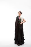Bailarín de sexo femenino, español del flamenco Foto de archivo