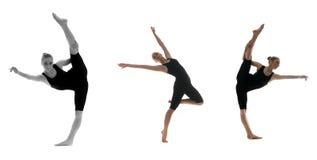 Bailarín de sexo femenino profesional en el movimiento Foto de archivo
