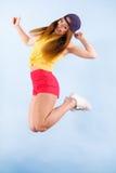 Bailarín de sexo femenino sonriente de moda joven Fotos de archivo libres de regalías