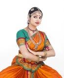 Bailarín de sexo femenino tradicional indio Imagen de archivo libre de regalías