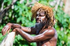 Bailarín de sexo masculino de Kanak Imagen de archivo