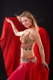 Bailarín de vientre. Foto de archivo libre de regalías