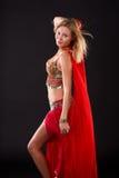Bailarín de vientre. Fotografía de archivo libre de regalías