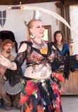Bailarín de vientre del festival del renacimiento de Ohio fotos de archivo libres de regalías