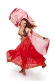 Bailarín de vientre joven en el movimiento fotos de archivo libres de regalías