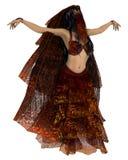 Bailarín de vientre sensual stock de ilustración