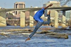 Bailarín del afroamericano/modelo en Richmond, VA. Fotografía de archivo