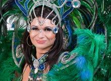 Bailarín del carnaval Fotografía de archivo libre de regalías