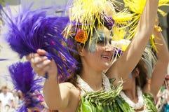Bailarín del desfile del solsticio Fotografía de archivo libre de regalías