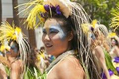 Bailarín del desfile del solsticio Fotografía de archivo