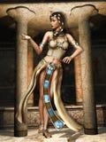 Bailarín del egipcio de la fantasía ilustración del vector
