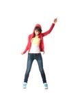 Bailarín del estallido de los jóvenes Foto de archivo libre de regalías