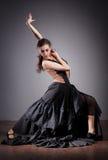 Bailarín del flamenco en alineada hermosa Fotografía de archivo libre de regalías