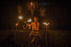 Bailarín del fuego Fotografía de archivo