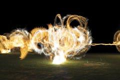 Bailarín del fuego Fotos de archivo libres de regalías