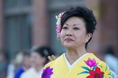 Bailarín del geisha Imágenes de archivo libres de regalías