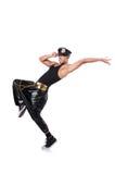 Bailarín del hombre aislado Fotografía de archivo libre de regalías