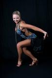 Bailarín del latín de la muchacha Imagen de archivo libre de regalías