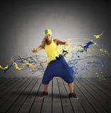 Bailarín del rap Foto de archivo libre de regalías