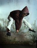 Bailarín del salto de la cadera Fotos de archivo libres de regalías