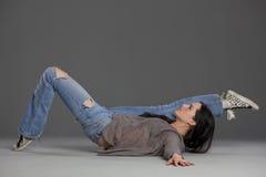 Bailarín del salto de la cadera foto de archivo