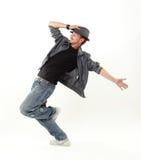 Bailarín del salto de la cadera Imágenes de archivo libres de regalías