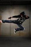 Bailarín del salto de la cadera fotografía de archivo libre de regalías