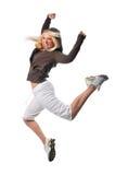 Bailarín del salto de la cadera fotos de archivo