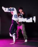 Bailarín del salto de la cadera en danza Imagenes de archivo