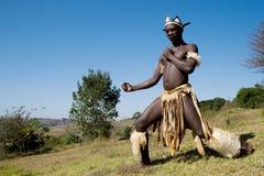 Bailarín del Zulú fotos de archivo