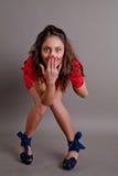 Bailarín emocional en una alineada Fotografía de archivo
